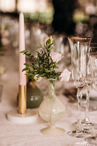 Flower Stems in Vases | Luxe Blush Pink Glasshouse Wedding at Cortal Gran, Spain Planned by La Puta Suegra  | Sara Lobla Photography