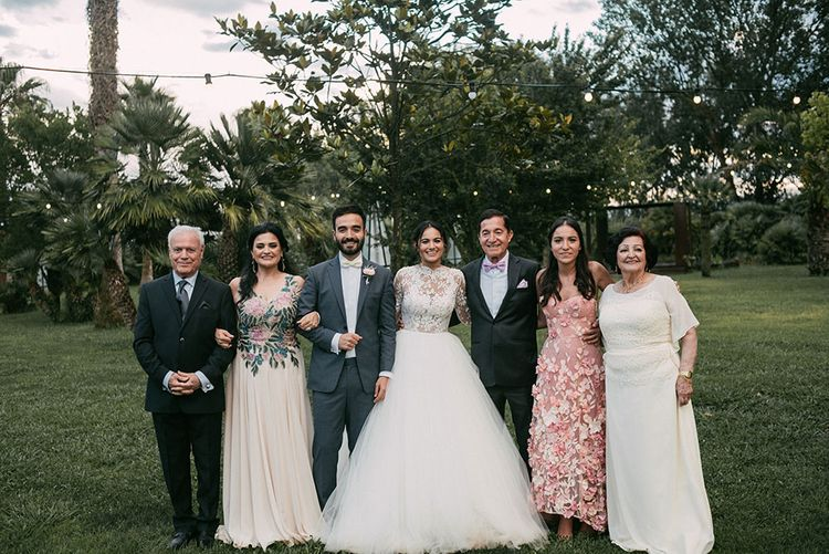 Family Portrait | Wedding Decor | Luxe Blush Pink Glasshouse Wedding at Cortal Gran, Spain Planned by La Puta Suegra  | Sara Lobla Photography