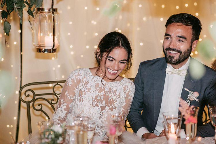 Bride & Groom Wedding Reception | Wedding Decor | Luxe Blush Pink Glasshouse Wedding at Cortal Gran, Spain Planned by La Puta Suegra  | Sara Lobla Photography