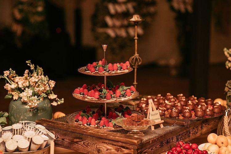 Dessert Table | Wedding Decor | Luxe Blush Pink Glasshouse Wedding at Cortal Gran, Spain Planned by La Puta Suegra  | Sara Lobla Photography