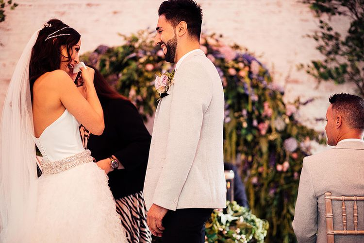 Emotional wedding ceremony at Dorfold Hall in Cheshire