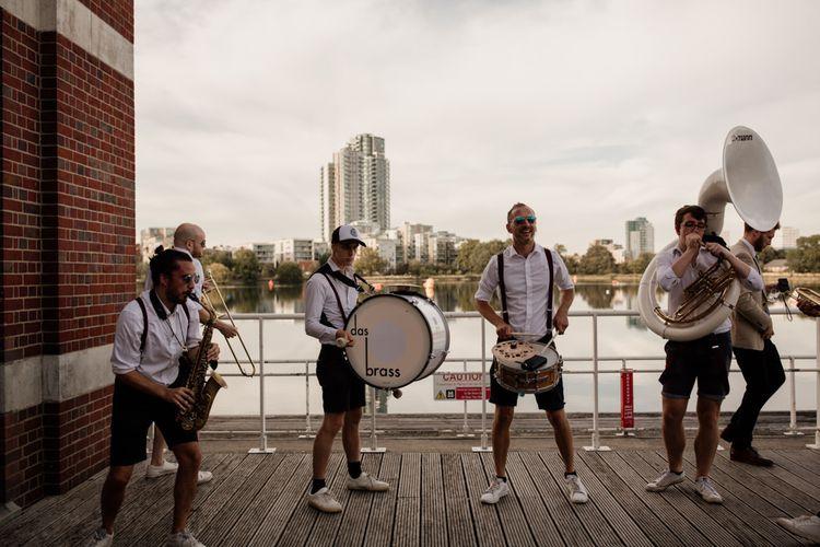 Marching band for London celebration at West Reservoir Centre