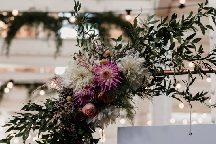 Fresh floral decor for rustic styling with David Austin roses