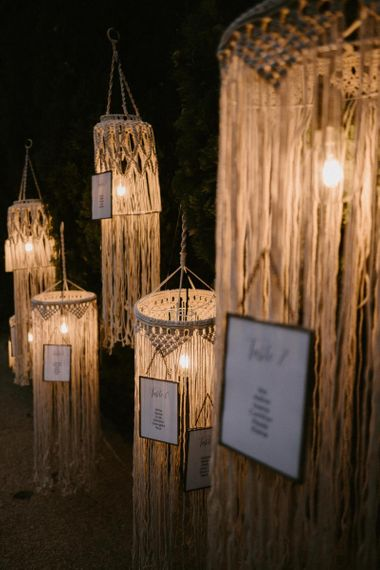Hanging Light Macrame Chandelier Table Plan