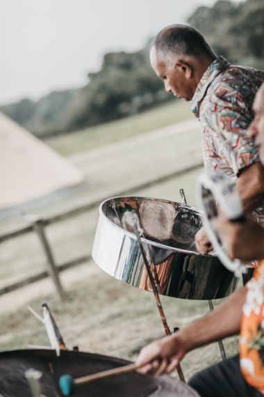 Steel drum wedding entertainment for home and church wedding