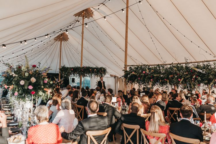 Church wedding and Sperry tent reception
