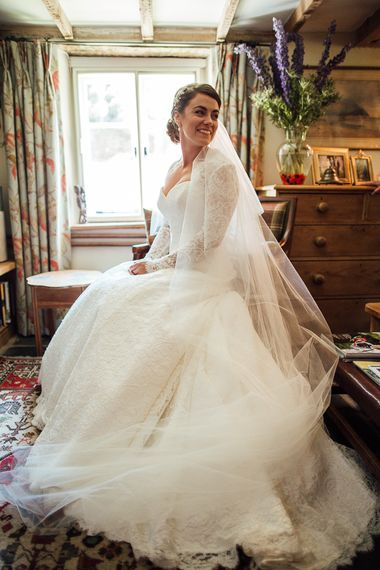 Bride in Suzanne Neville Gown | DIY Rustic Wedding in a Sheep Shed | Suzanne Neville Bridal Gown | Donegal Tweed Suits | Bridesmaids inPurple  JLM Couture Special Occasions Dresses | Matt Willis Photography