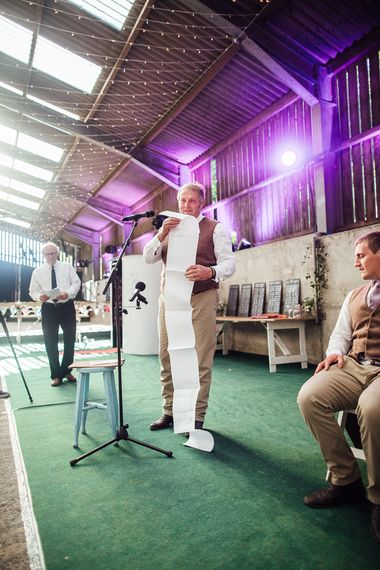 DIY Rustic Wedding in a Sheep Shed | Suzanne Neville Bridal Gown | Donegal Tweed Suits | Bridesmaids inPurple  JLM Couture Special Occasions Dresses | Matt Willis Photography