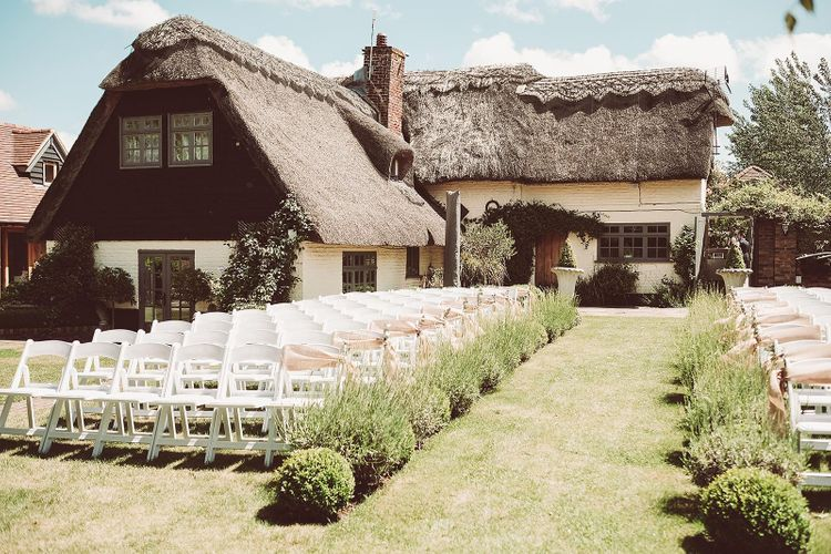Country House Wedding Venue Outdoor Ceremony Set Up