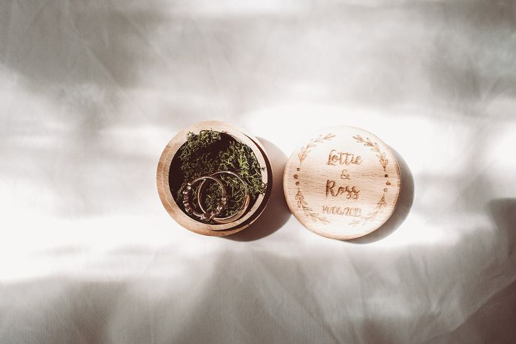 Rustic Personalised Wooden Ring Box
