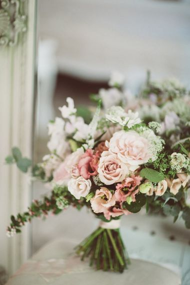 Blush Pink Wedding Floral Bouquet by Hedges & Flowers