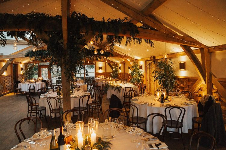 Magical rustic barn decor for November wedding