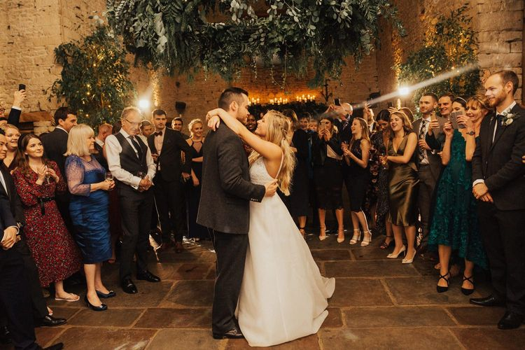 Bride and Groom first dance at November wedding
