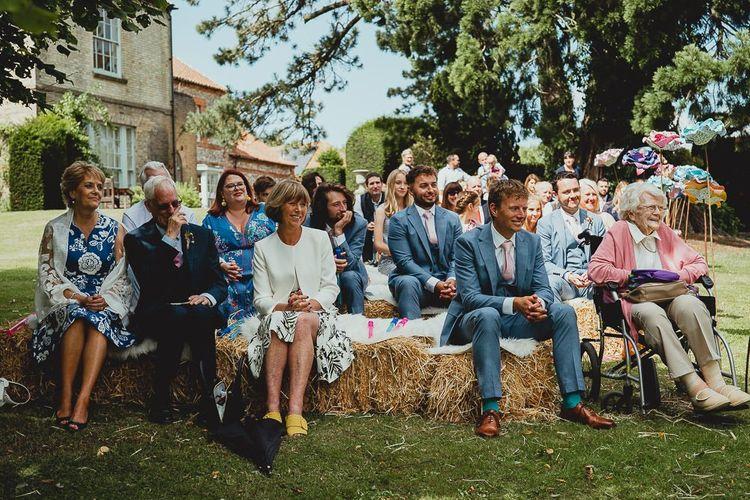 Guests enjoy outdoor ceremony