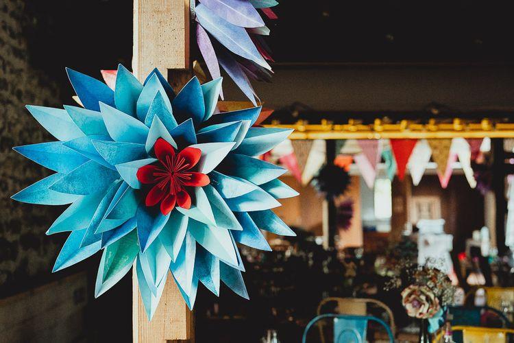 DIY wedding bunting and decor for outdoor wedding