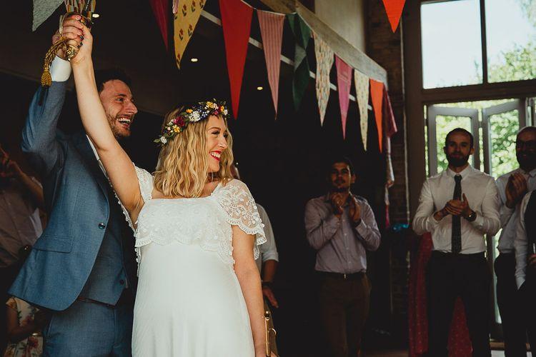 DIY wedding bunting for boho vibe wedding