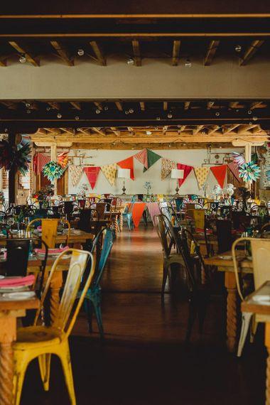 Wedding bunting and DIY wedding decor for Norfolk wedding