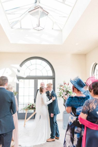 February wedding ceremony at Middleton Lodge's Fig House