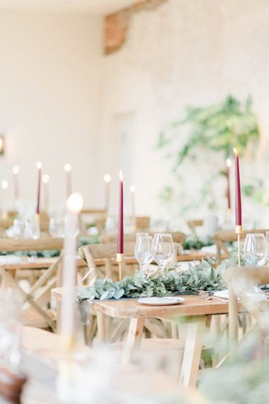 Romantic candle light for February wedding