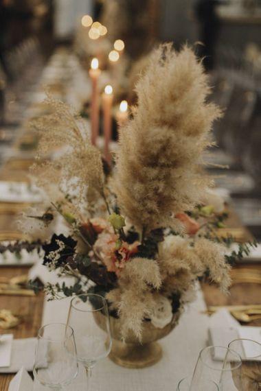 Pampas Grass Table Decor
