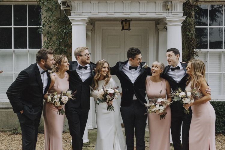Sophisticated Black Tie Wedding Party Fashion