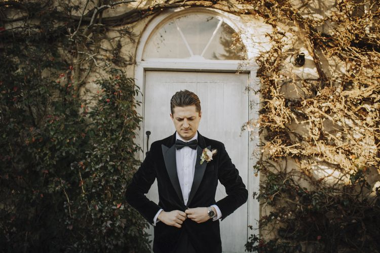 Groom in Tuxedo and Bow Tie