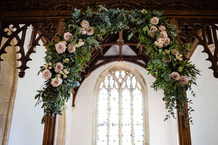 Church Wedding Flowers Decorating the Chapel