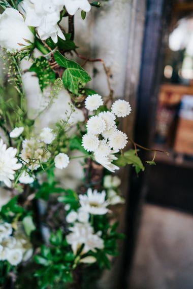 White Wedding Flowers with Foliage