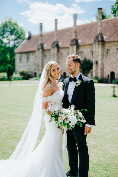 Elegant Bride and Groom Wedding Portrait