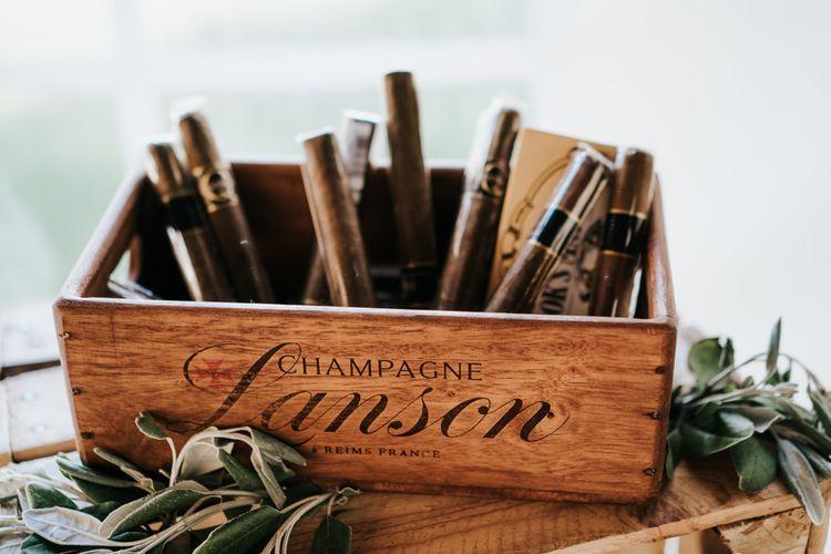 Wooden Box Full of Cigars