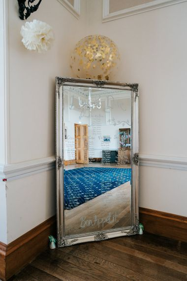 Silver Guilt Mirror Table Plan