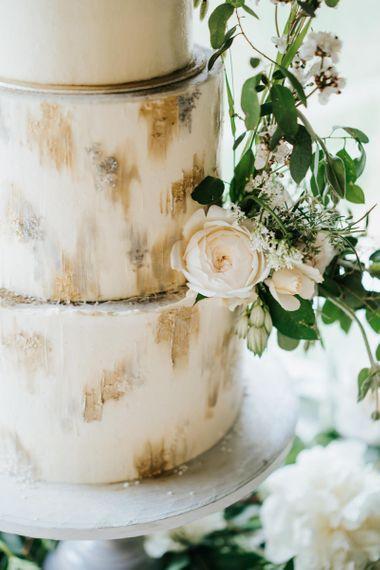 Smudge Effect Wedding Cake Decor