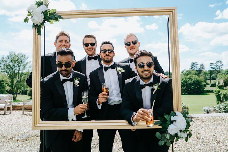 Groomsmen in Tuxedo's and Sunglasses