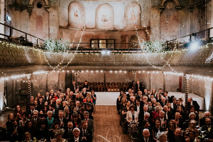 Wedding Ceremony at Wilton's Music Hall in London