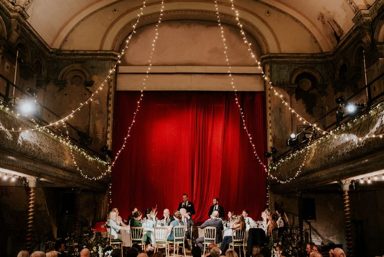 Wedding Reception  Speeches at Wilton's Music Hall