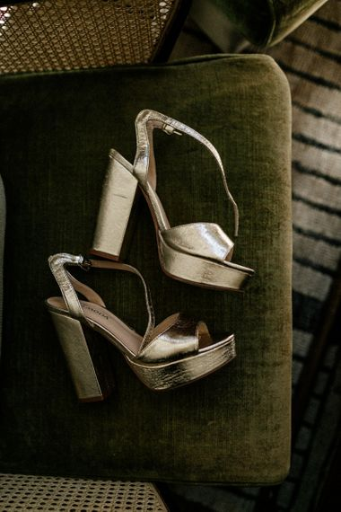 Gold platform Vero Mood wedding shoes