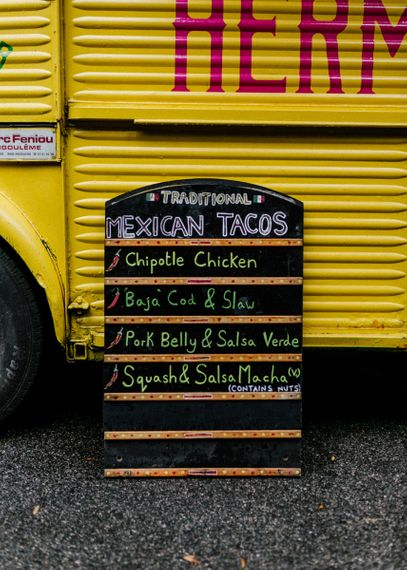 Mexican Taco truck for micro wedding