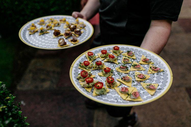 Taco wedding canapés