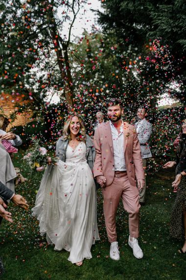 Colourful confetti portrait by Epic Love Story Photography