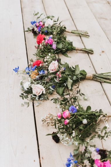 Wildflower bouquets for bridal party