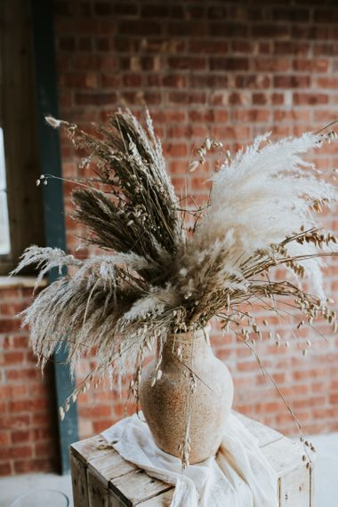 Large Floral Display of Dried Flowers including Pampas Grass
