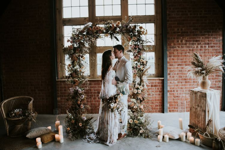 Wedding Ceremony Dried Flower Altar