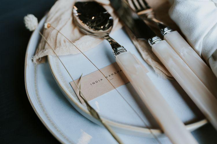 Elegant Place Setting with Bone Cutlery Set