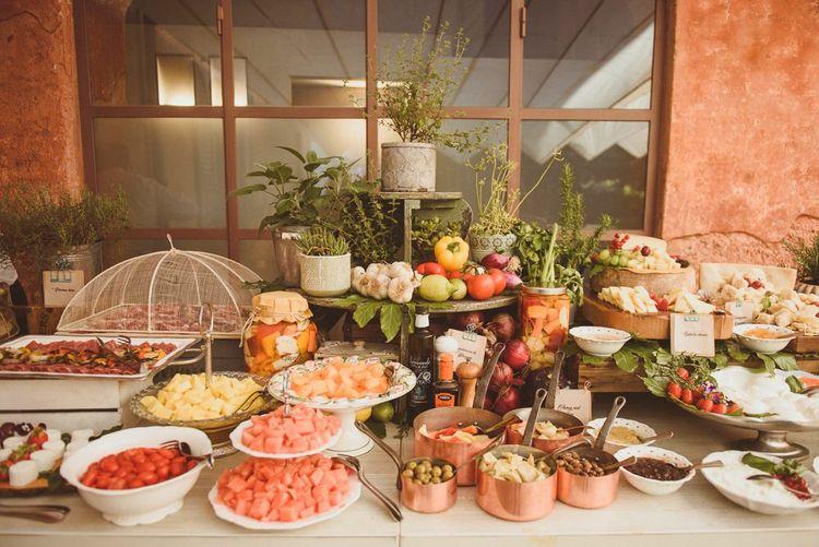 Sharing platter at Lake Como wedding