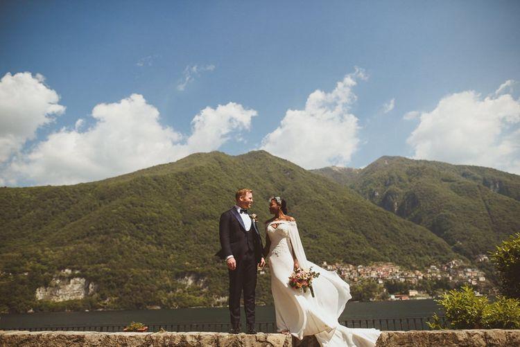 Lake Como wedding portrait
