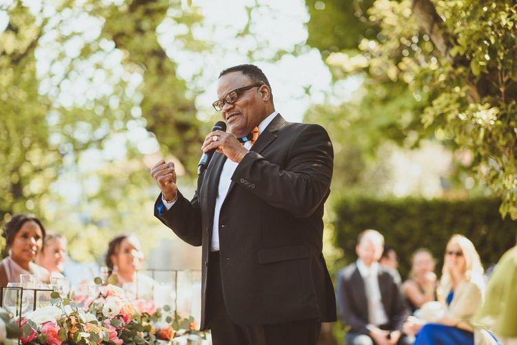 Father of the bride wedding speech at Lake Como wedding