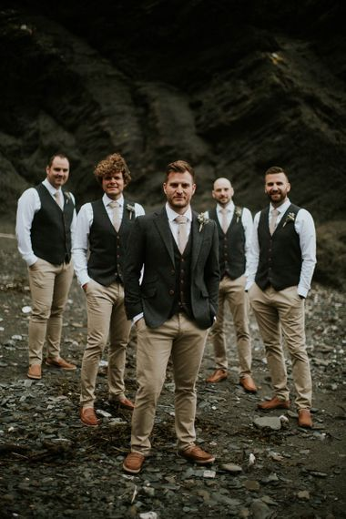 Groomsmen in Chino's, Waistcoats and Blazer