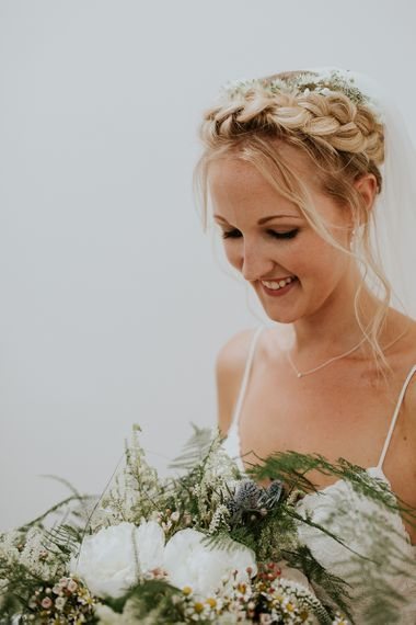 Beautiful Bride with Braided Updo