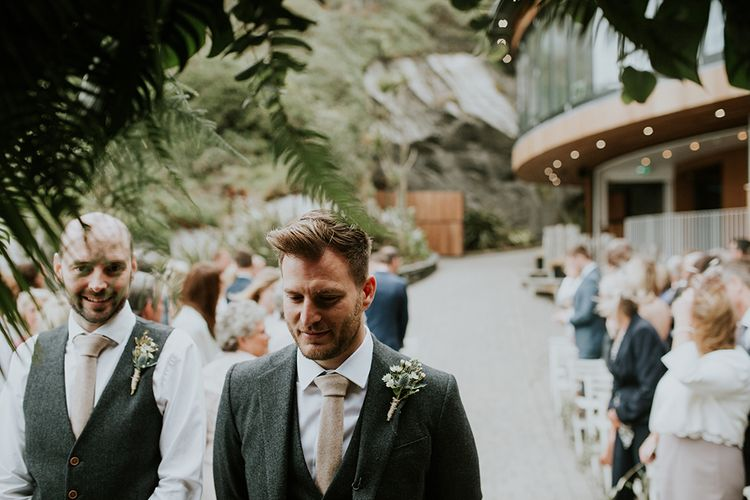 Groom at the Altar in Charcoal Grey Wool Blazer