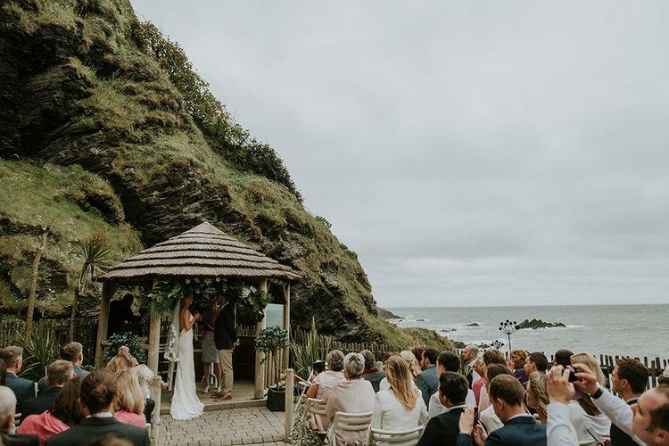 Coastal Wedding Ceremony at Tunnels Beaches in Devon